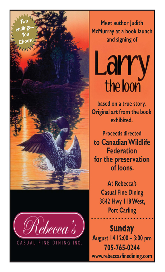 LARRY THE LOON BOOK LAUNCH & ART SHOW